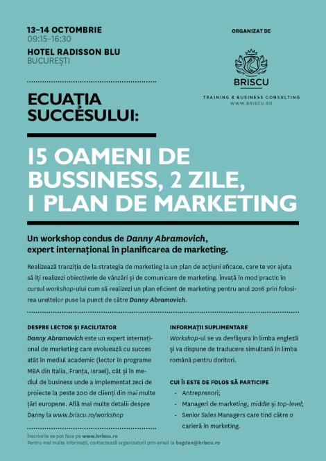 workshop plan marketing danny abramovich